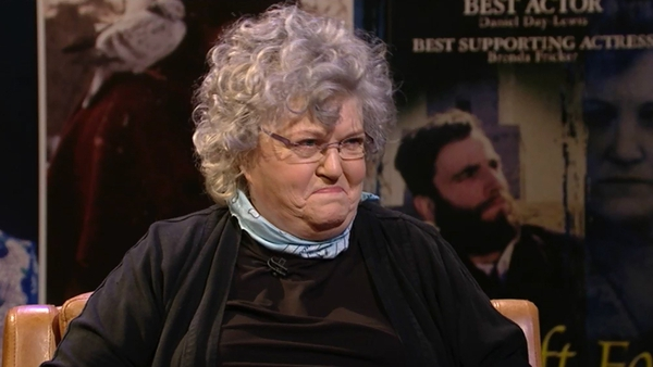 """Brenda Fricker - """"I threw that into the swimming pool in Renvyle Hotel in the west of Ireland in Connemara!"""""""