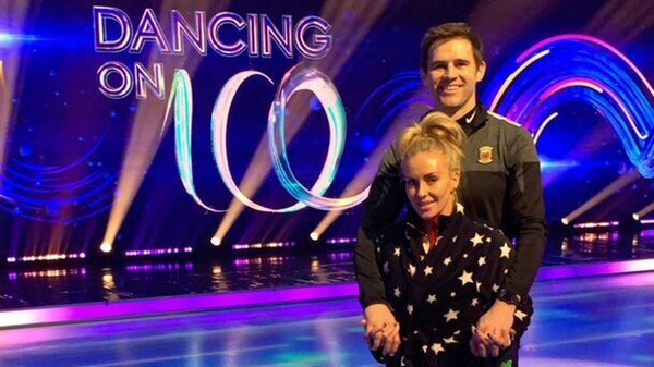 Kevin Kilbane and pro-skater partner and girlfriend Brianne Delcourt. Picture courtesy of @kdkilbane77