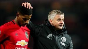 Marcus Rashford (left) and Ole Gunnar Solskjaer