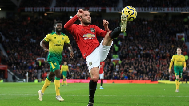 Juan Mata in action against Norwich