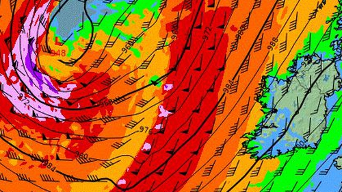 Met Éireann said there is a significant risk of coastal flooding due to strong winds, high spring tides and storm surge