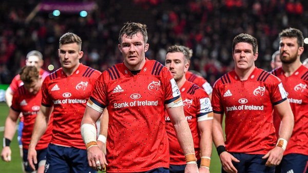 Peter O'Mahony leads his troops off the park in Paris