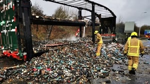 The truck was carrying tubes of Pringles (Pic Highways England)