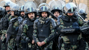 Iranian security forces have been out in force on Tehran's streets