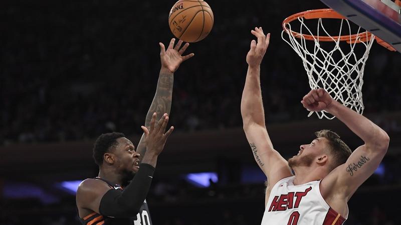 WATCH: Knicks bring the heat to Miami