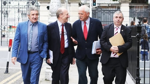 (L-R) John Halligan, Shane Ross, Finian McGrath and Kevin 'Boxer' Moran (Pic: RollingNews.ie)