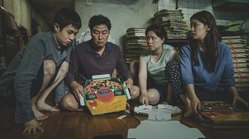 It's a risky climb but they're upwardly mobile: the Kim family in Parasite