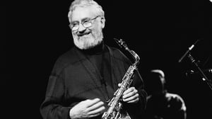 Alto saxophonist Lee Konitz performing in the Netherlands in 1992.