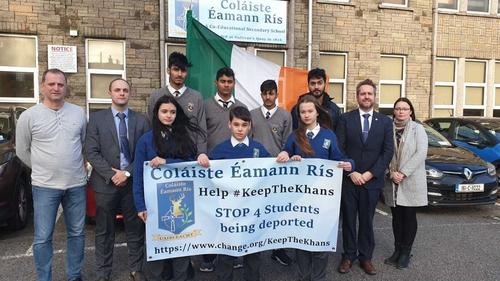 Three of the boys attend the same school - Coláiste Éamann Rís in Cork