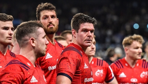 Billy Holland (c) amongst disappointed Munster players
