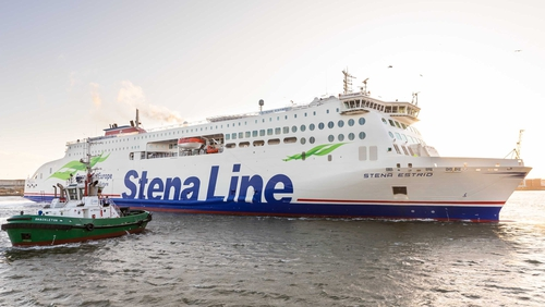 The new freight only vessel will run between Rosslare and Cherbourg from 4 January