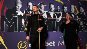 David Gilbert (left) was an impressive winner over Mark Allen