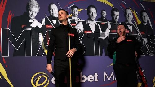 David Gilbert (left) was an impressive winner over Mark Allen