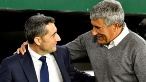 Barca have moved quickly to replace Ernesto Valverde (left) with Quique Setien
