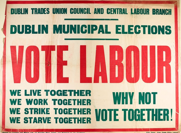 Century Ireland 170, Labour election poster, National Library of Ireland