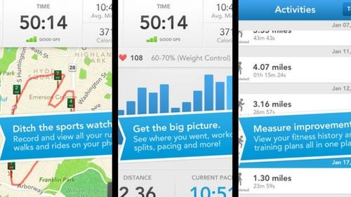 RunKeeper is popular fitness app