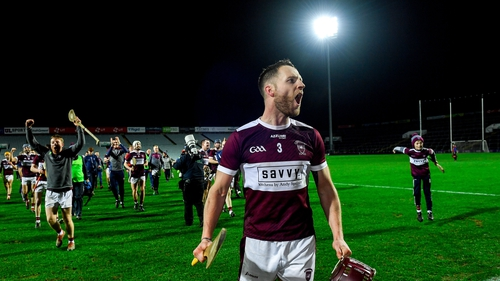 Paddy Stapleton salutes the crowd after Borris-Ileigh's victory over St Thomas' in the All-Ireland semi-final
