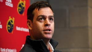 Munster head coach Johann van Graan during a Munster Rugby press conference at University of Limerick