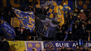 Shrewsbury fans celebrate as they hold the Premier League leaders to a fourth round draw