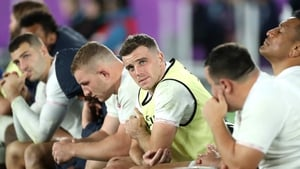 George Ford and his England colleagues dejected during the closing stages of the World Cup final