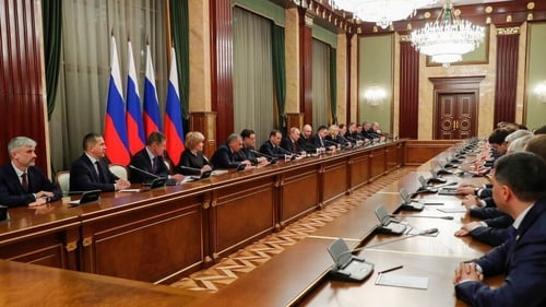 Members of the Russian government meeting in Moscow