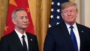 China's top negotiator, vice premier Liu He, and US President Donald Trump signed the trade deal in the White House