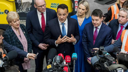 Leo Varadkar speaking at Fine Gael's election campaign launch