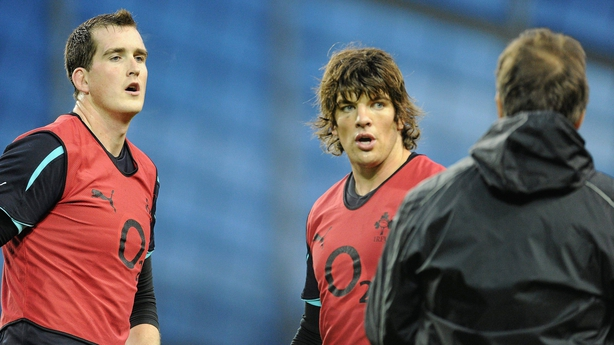 Devin Toner, left, and Donncha O'Callaghan in 2010