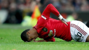 Marcus Rashford's season has been curtailed by a back problem