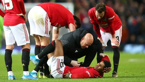 Marcus Rashford lasted just over 15 minutes at Old Trafford before injury intervened