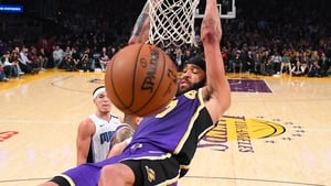 JaVale McGee #7 of the Los Angeles Lakers