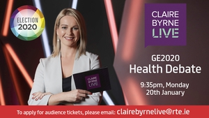 Claire Byrne Live Health Debate on Monday, January 20th