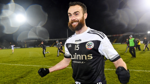 Conor Laverty shows his delight after the win over Ballyboden St Enda's