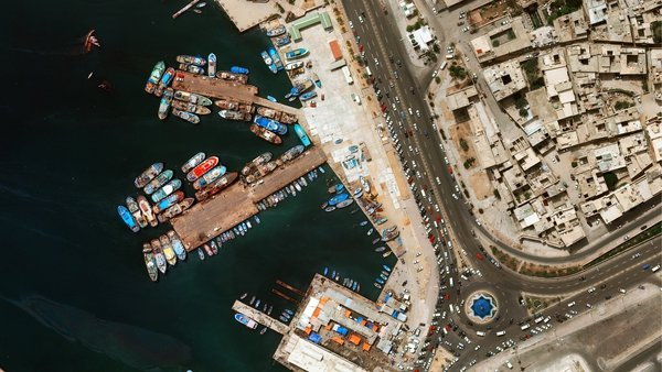 An aerial view of Tripoli harbour. Photo: Getty Images