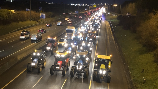 Farmers' protest causes major traffic delays in Dublin