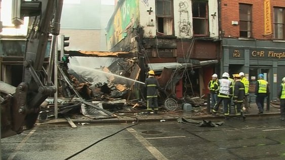 Head shop fire on Capel Street.