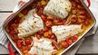 Nevens Recipes - Roasted Hake with Cherry Tomatoes, Basil and Mozzarella