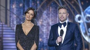 Presenters Jennifer Zamparelli and Nicky Byrne are styled by Fiona Fagan every Sunday night.