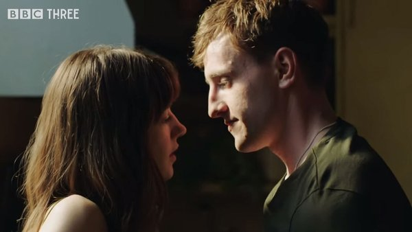 Daisy Edgar Jones and Paul Mescal in the trailer for Normal People