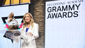 Recording Academy president and CEO Deborah Dugan speaks at the 62nd Grammy Awards Nominations at CBS Broadcast Center on November 20, 2019 in New York City. (Photo by Jamie McCarthy/Getty Images)