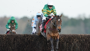 Barry Geraghty rides Defi Du Seuil clear the last to win Matchbook Clarence House Chase