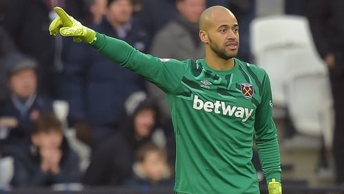 The 32-year-old left the Hammers in 2017 and returned for an undisclosed fee as cover for Lukasz Fabianski, who is currently sidelined due to inflammation of the scar tissue in his hip following surgery