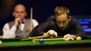 Ali Carter, foreground, and Stuart Bingham, background, will both contest their first Masters final