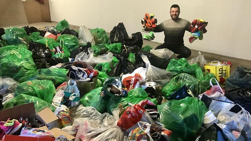 Sligo man aims to send 5,000 sport shoes to SA children