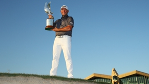 Lee Westwood after his victory in last January's Abu Dhabi HSBC Golf Championship