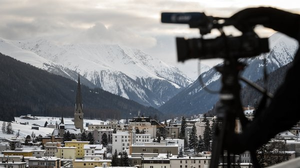 The streets of Davos that welcomed 3,000 business chiefs, political thinkers and state leaders for last year's annual meeting lie deserted this year