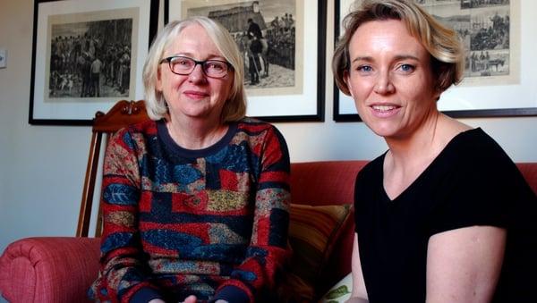 Ireland Portrayed: presenter Cristin Leach with art historian Niamh O'Sullivan