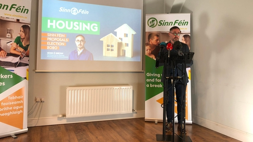 Eoin Ó Broin at the party's policy launch