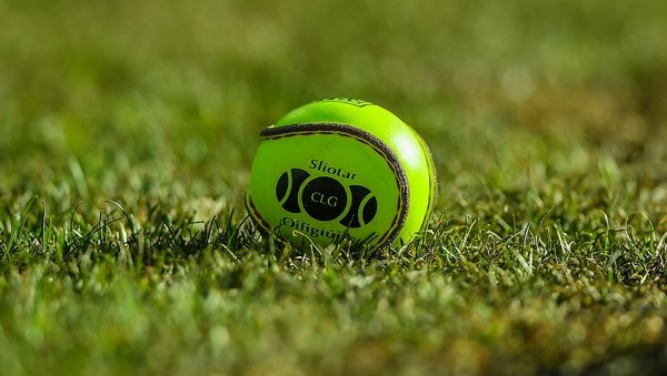 A luminous sliotar bearing the official GAA stamp of approval