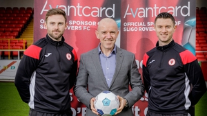 Johnny Dunleavy (pictured right) pictured in Sligo today at a sponsorship announcement